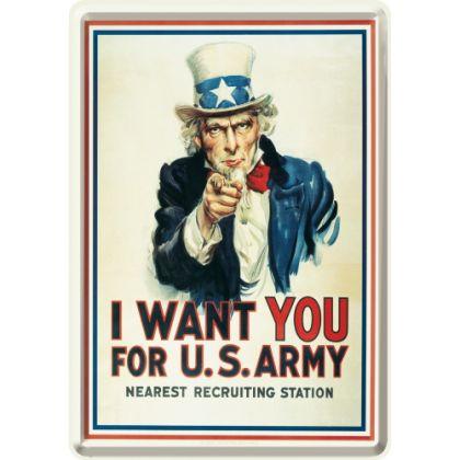 Carte postala metalica I Want You for US Army