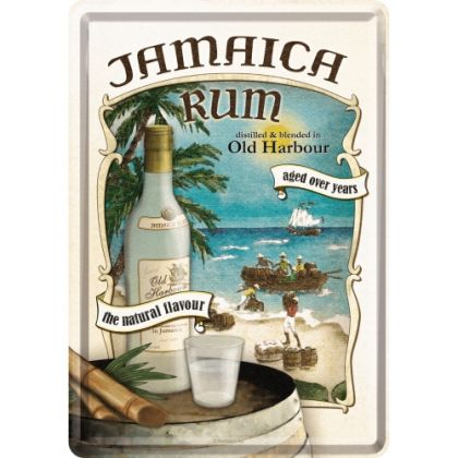 Carte postala metalica Jamaica Rum