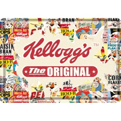 Carte postala metalica Kellogg's the Original