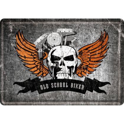 Carte postala metalica Old School Biker