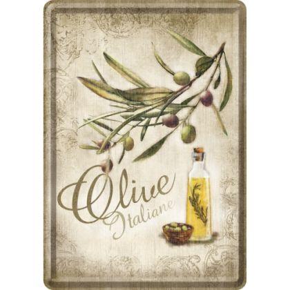 Carte postala metalica Olive Italiane