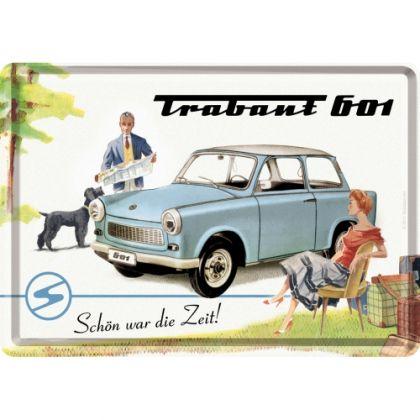 Carte postala metalica Trabant Holiday