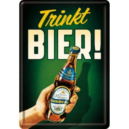 Carte postala metalica Trinkt Bier!