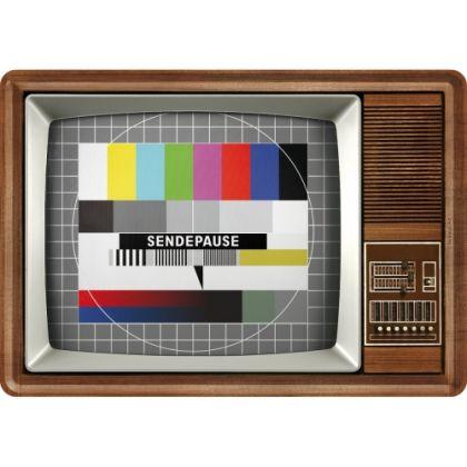 Carte postala metalica TV Test