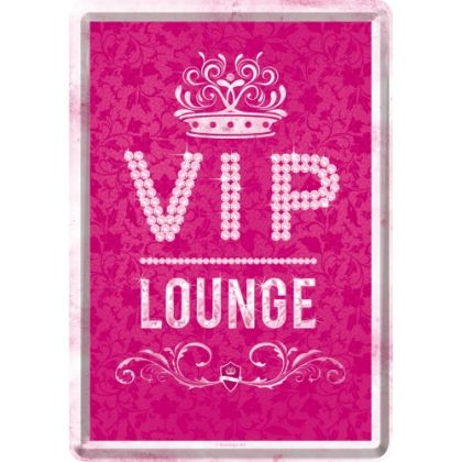Carte postala metalica VIP Pink Lounge