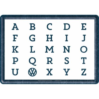 Carte postala metalica VW-ABC