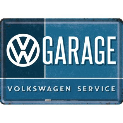 Carte postala metalica VW Garage