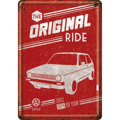 Carte postala metalica VW Golf - The Original Ride