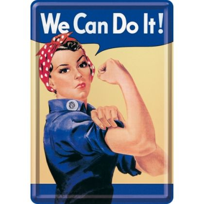 Carte postala metalica We can do it!
