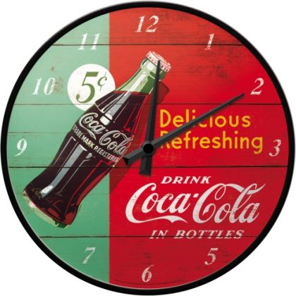 Ceas de perete Coca-Cola Delicious Refreshing Green