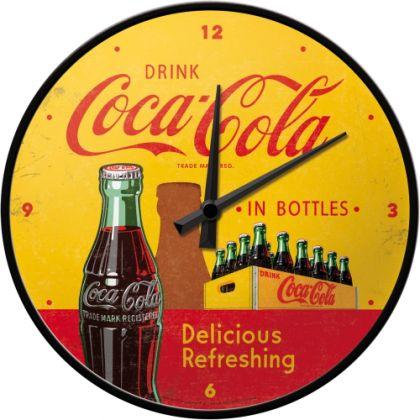Ceas Perete Coca-Cola In Bottles Yellow