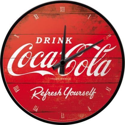 Ceas Perete Coca-Cola Logo Red Refresh Yourself