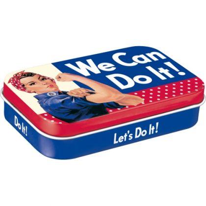 Cutie de buzunar metalica XL We Can Do It - Dots