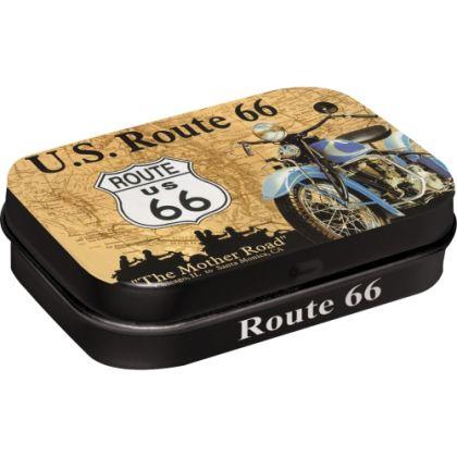 Cutie metalica de buzunar Route 66 Map