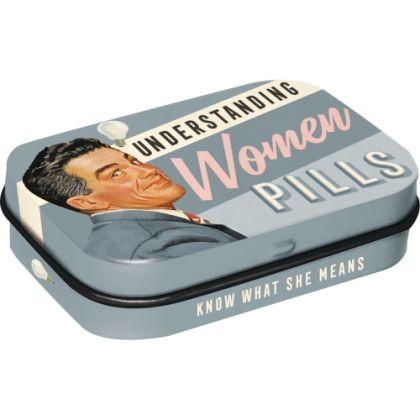 Cutie metalica de buzunar Understanding Women Pills