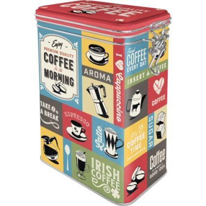 Cutie metalica etansa Coffee Collage