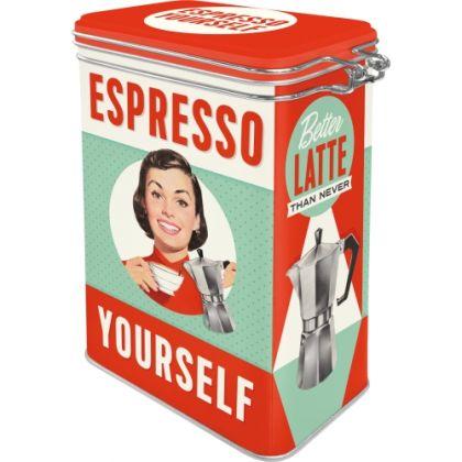 Cutie metalica etansa Espresso Yourself