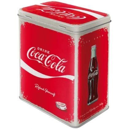 Cutie metalica L Coca-Cola - Logo Red