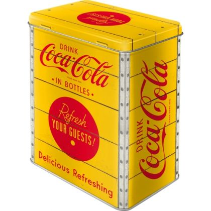 Cutie metalica L Coca-Cola - Logo Yellow
