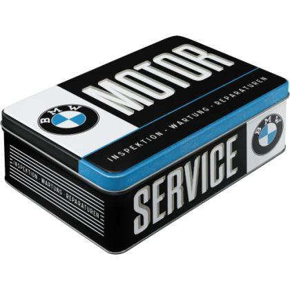 Cutie metalica plata BMW-Service