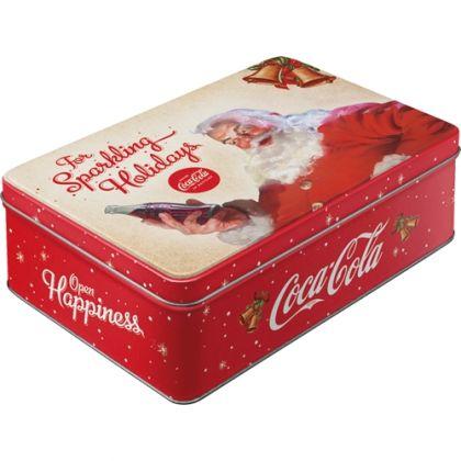 Cutie metalica plata Coca-Cola - For Sparkling Holidays