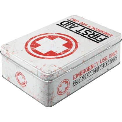 Cutie metalica plata First Aid
