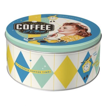 Cutie metalica Rotunda Coffee O 'Clock