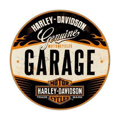 Cutie metalica Rotunda Harley-Davidson Garage