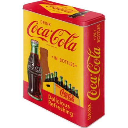 Cutie metalica XL Coca-Cola -In Bottles Yellow