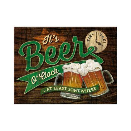Magnet Beer O'Clock Glasses