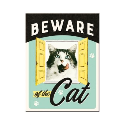 Magnet Beware of the Cat