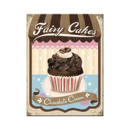 Magnet Fairy Cakes - Chocolate Cream