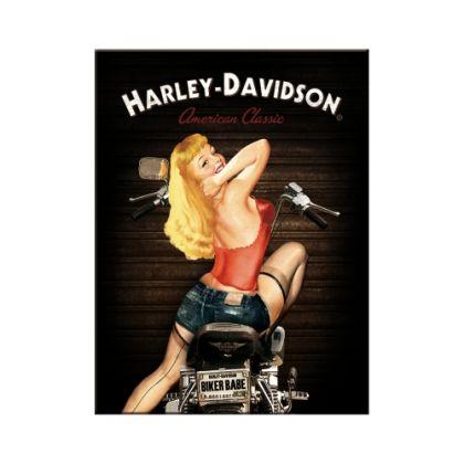 Magnet Harley-Davidson Biker babe