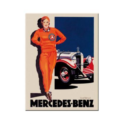 Magnet Mercedes-Benz femeia in rosu