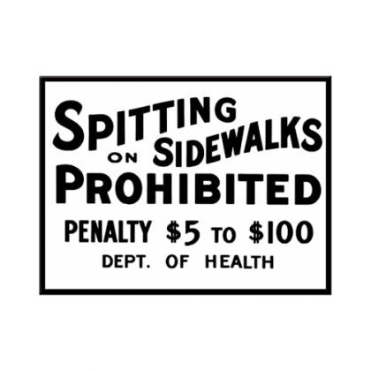 Magnet Spitting on sidewalks prohibited