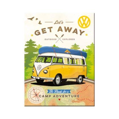 Magnet VW Bulli - Let's Get Away