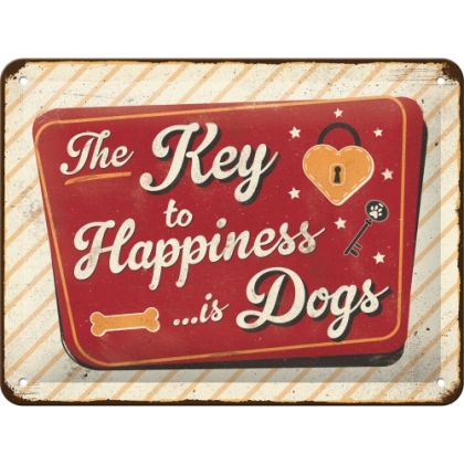 Placa 15x20 Key to Happiness