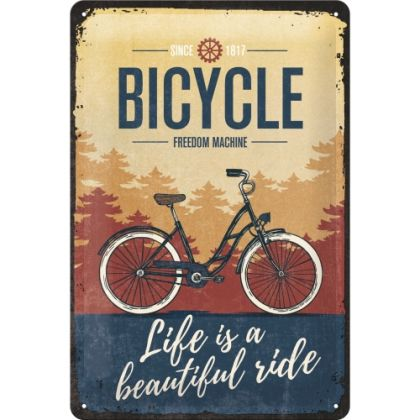 Placa 20x30 Bicycle - Beautiful Ride