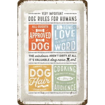 Placa 20x30 Dog Rules