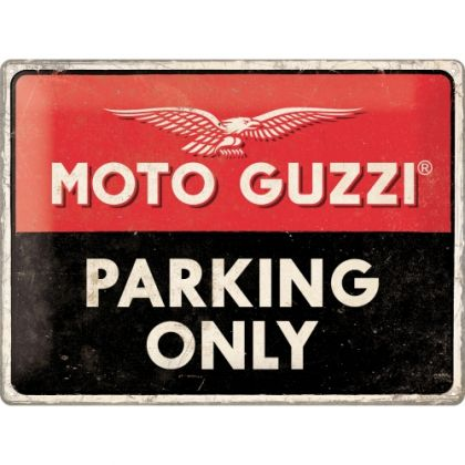 Placa 30x40 Moto Guzzi - Parking Only