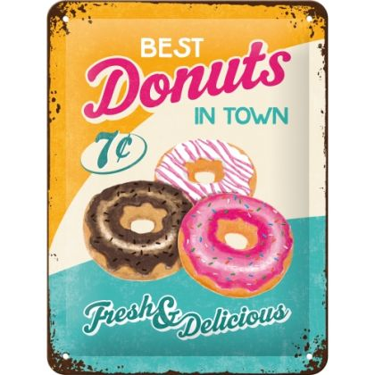 Placa metalica 15X20 Best Donuts in Town