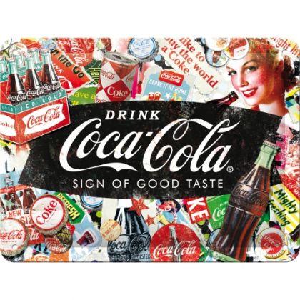 Placa metalica 15x20 Coca-Cola Colaj