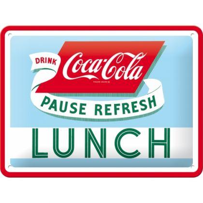 Placa metalica 15x20 Coca-Cola Lunch