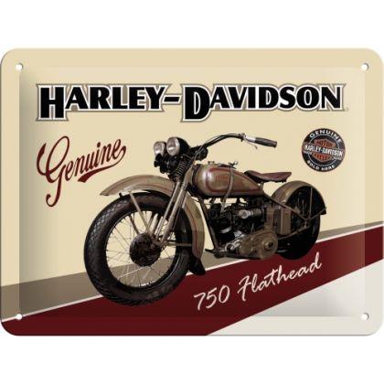 Placa metalica 15x20 Harley-Davidson Flathead
