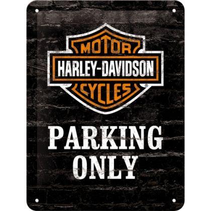 Placa metalica 15X20 Harley-Davidson Parking Only