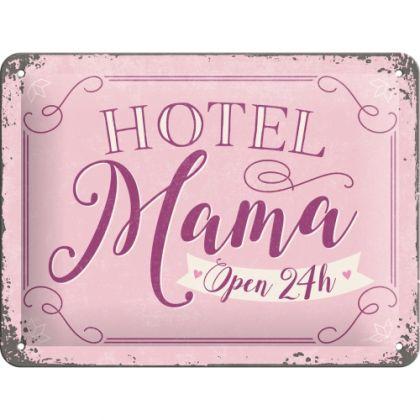 Placa metalica 15X20 Hotel Mama