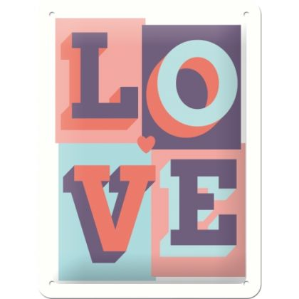 Placa metalica 15x20 Love