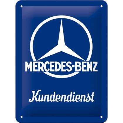 Placa metalica 15x20 Mercedes-Benz Customer Service
