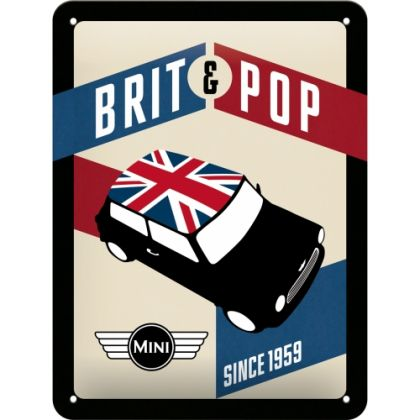 Placa metalica 15X20 Mini-Brit&Pop