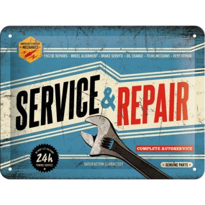 Placa metalica 15X20 Service & Repair